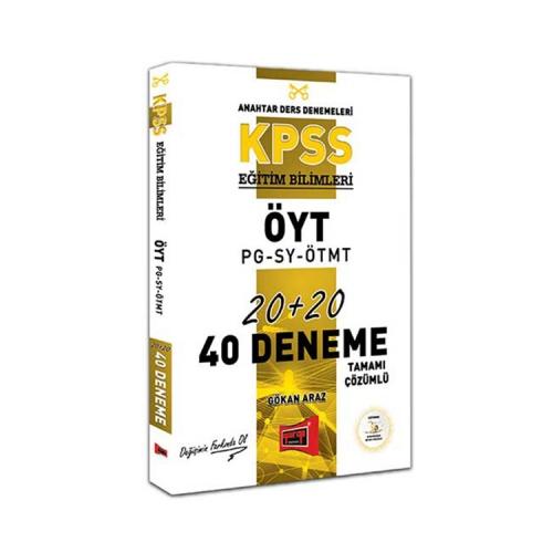 Yargı Yayınları KPSS Eğitim Bilimleri ÖYT-PG-SY-ÖTMT Tamamı Çözümlü 40 Deneme