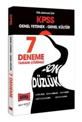 Yargı Yayınları - Yargı Yayınları KPSS Tüm Adaylar İçin Genel Yetenek Genel Kültür Son Düzlük Tamamı Çözümlü 7 Deneme