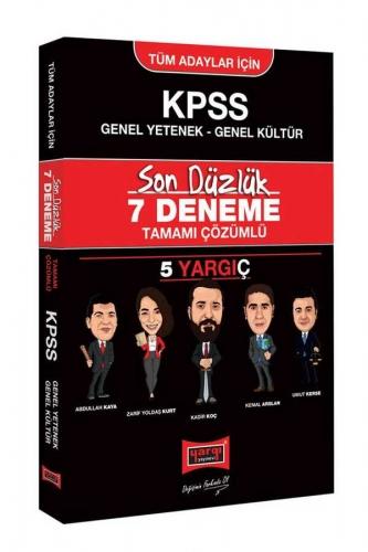 Yargı Yayınları KPSS Tüm Adaylar İçin Genel Yetenek Genel Kültür Son Düzlük Tamamı Çözümlü 7 Deneme
