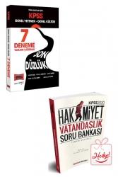Yargı Yayınları - Yargı Yayınları KPSS Tüm Adaylar İçin Genel Yetenek Genel Kültür Son Düzlük Tamamı Çözümlü 7 Deneme Soru Bankası Hediyeli