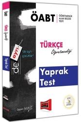 Yargı Yayınları - Yargı Yayınları ÖABT DE AYRI Türkçe Öğretmenliği Yaprak Test