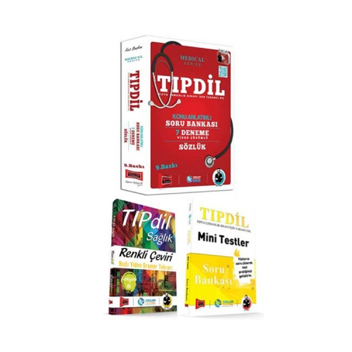 Yargı Yayınları TIPDİL Kazandıran Set 3 Kitap + TIPDİL Sağlık Renkli Çeviri ve Mini Testler