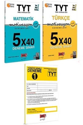 Yargı Yayınları TYT Motivasyon Matematik Türkçe ve TYT Türkiye Geneli Deneme Seti