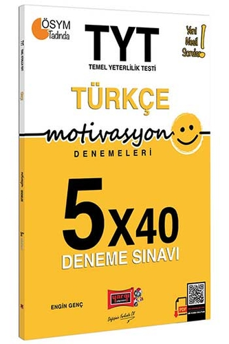 Yargı Yayınları TYT Motivasyon Türkçe 5×40 Deneme Sınavı
