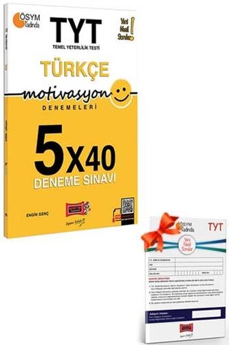 Yargı Yayınları TYT Motivasyon Türkçe 5×40 Deneme Sınavı + HEDİYELİ