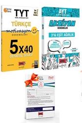 Yargı Yayınları - Yargı Yayınları TYT Motivasyon Türkçe ve AYT Eşit Ağırlık Aksiyon Deneme Seti + HEDİYELİ