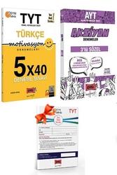Yargı Yayınları - Yargı Yayınları TYT Motivasyon Türkçe ve AYT Sözel Aksiyon Deneme Seti + HEDİYELİ