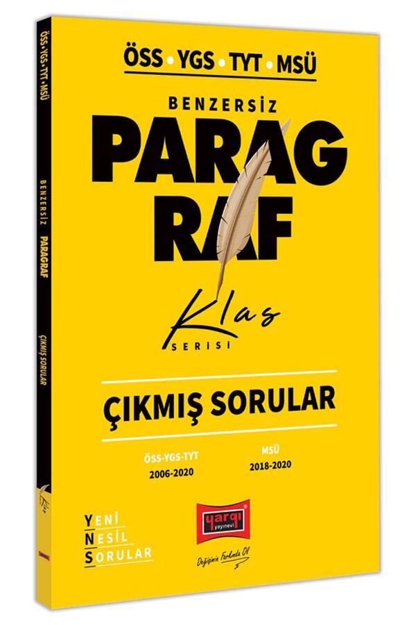 Yargı Yayınları - Yargı Yayınları TYT YGS ÖSS MSÜ Benzersiz Paragraf Çıkmış Sorular Klas Serisi