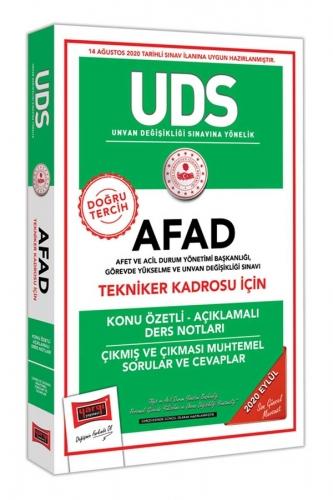 Yargı Yayınları UDS AFAD Tekniker Kadrosu İçin Konu Özetli Çıkmış ve Çıkması Muhtemel Sorular