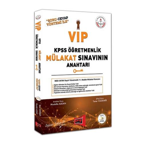 Yargı Yayınları VİP KPSS Öğretmenlik Mülakat Sınavının Anahtarı