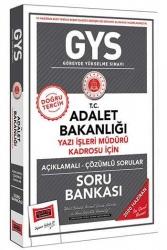 Yargı Yayınları - Yargı Yayınları 2020 GYS T.C. Adalet Bakanlığı Yazı İşleri Müdürü Kadrosu İçin Açıklamalı Soru Bankası