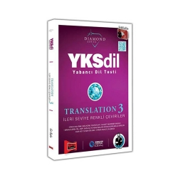 Yargı Yayınevi - Yargı Yayınları YKSDİL Yabancı Dil Testi Translation 3 İleri Seviye Renkli Çeviriler