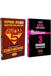 Yargı Yayınları - Yargı + Yediiklim Yayınları 2020 KPSS Eğitim Bilimleri Muhteşem Çözümlü 5+3 Deneme Seti