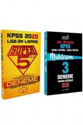Yargı Yayınları - Yargı + Yediiklim Yayınları 2020 KPSS Lise Ön Lisans GY-GK Muhteşem Çözümlü 5+3 Deneme Seti