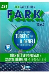 Yayın Denizi Yayınları - Yayın Denizi Yayınları AYT Türk Dili ve Edebiyatı Sosyal Bilimler 1 Fark 10x40 Tekrar Ettiren Denemeleri