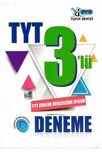 Yayın Denizi Yayınları - Yayın Denizi Yayınları TYT 3 lü Pro Deneme