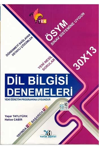 Yayın Denizi Yayınları TYT Dil Bilgisi TEK Serisi 30×13 Denemeleri