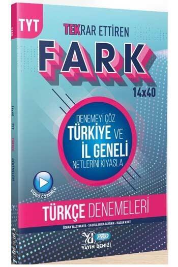 Yayın Denizi Yayınları - Yayın Denizi Yayınları TYT Türkçe Fark 14x40 Tekrar Ettiren Denemeleri