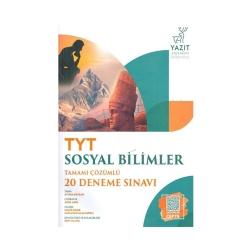 Yazıt Yayınları - Yazıt Yayınları TYT Sosyal Bilimler Tamamı Çözümlü 20 Deneme Sınavı