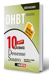 Yedibeyza Yayınları - Yedibeyza Yayınları 2018 DHBT Ön Lisans Çözümlü 10 Deneme Sınavı