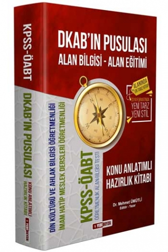 Yedibeyza Yayınları 2020 ÖABT DKAB'ın Pusulası Din Kültürü ve Ahlak Bilgisi Öğretmenliği Konu Anlatımlı