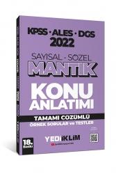 Yediiklim Yayınları - Yediiklim Yayınları 2022 KPSS ALES DGS Sayısal Sözel Mantık Konu Anlatımı