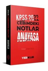 Yediiklim Yayınları - Yediiklim Yayınları 2022 KPSS Cebimdeki Notlar Anayasa Kitapçığı