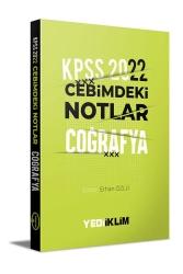 Yediiklim Yayınları - Yediiklim Yayınları 2022 KPSS Cebimdeki Notlar Coğrafya Kitapçığı