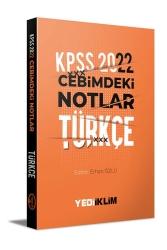 Yediiklim Yayınları - Yediiklim Yayınları 2022 KPSS Cebimdeki Notlar Türkçe Kitapçığı