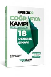 Yediiklim Yayınları - Yediiklim Yayınları 2022 KPSS Coğrafya Kampı Tamamı Çözümlü 18 Deneme Sınavı