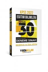 Yediiklim Yayınları - Yediiklim Yayınları 2022 KPSS Eğitim Bilimleri Rehberlik ve Özel Eğitim Tamamı Çözümlü 30 Popüler Deneme