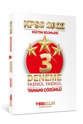 Yediiklim Yayınları - Yediiklim Yayınları 2022 KPSS Eğitim Bilimleri Tamamı Çözümlü Fasikül 3 Yıldız Deneme
