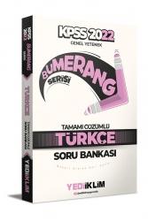 Yediiklim Yayınları - Yediiklim Yayınları 2022 KPSS Genel Yetenek Bumerang Türkçe Tamamı Çözümlü Soru Bankası