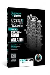Yediiklim Yayınları - Yediiklim Yayınları 2022 KPSS Genel Yetenek ÖSYM Ne Sorar Türkçe Video Destekli Konu Anlatımı