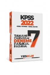 Yediiklim Yayınları - Yediiklim Yayınları 2022 KPSS GY-GK Tamamı Çözümlü 7 Fasikül Deneme