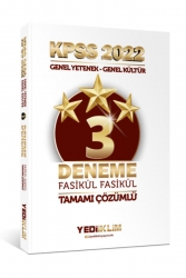 Yediiklim Yayınları - Yediiklim Yayınları 2022 KPSS Lisans GY-GK Tamamı Çözümlü Fasikül 3 Yıldız Deneme