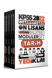 Yediiklim Yayınları - Yediiklim Yayınları 2022 KPSS Ortaöğretim Ön Lisans GY GK Konu Anlatımlı Modüler Set