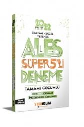 Yediiklim Yayınları - Yediiklim Yayınları 2022 Master Serisi ALES Sayısal- Sözel Yetenek Tamamı Çözümlü Süper 5'li Deneme