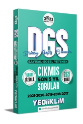 Yediiklim Yayınları - Yediiklim Yayınları 2022 Prestij Serisi DGS Tamamı Çözümlü Son 5 Yıl Çıkmış Sorular