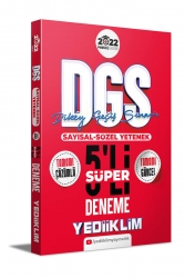 Yediiklim Yayınları - Yediiklim Yayınları 2022 Prestij Serisi DGS Tamamı Çözümlü Süper 5 Deneme
