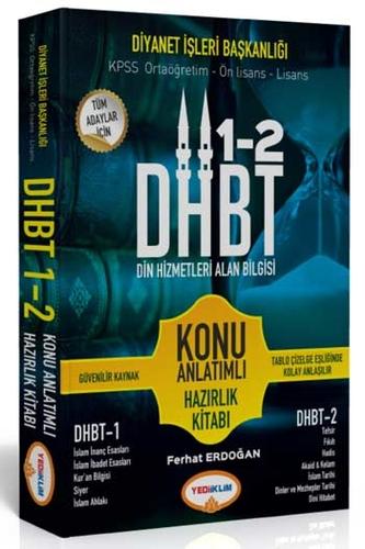 Yediiklim Yayınları DHBT 1-2 Tüm Adaylar İçin Din Hizmetleri Alan Bilgisi Konu Anlatımlı Hazırlık Kitabı