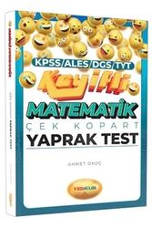 Yediiklim Yayınları - Yediiklim Yayınları KPSS ALES DGS TYT Keyifli Matematik Çek Kopart Yaprak Test