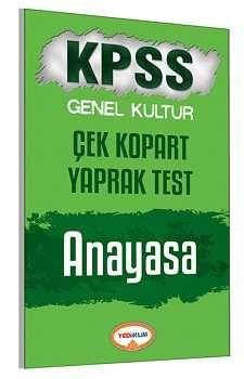 Yediiklim Yayınları KPSS Anayasa Çek Kopart Yaprak Test