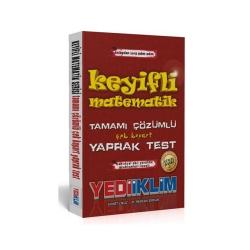 Yediiklim Yayınları - Yediiklim Yayınları KPSS Keyifli Matematik Tamamı Çözümlü Çek Kopar Yaprak Test Güncel Baskı