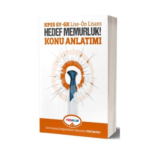 Yediiklim Yayınları KPSS Lise-Ön Lisans GY-GK Hedef Memurluk Konu Anlatımı