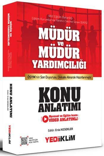 Yediiklim Yayınları - Yediiklim Yayınları MEB EKYS Müdür ve Müdür Yardımcılığı Konu Anlatımı