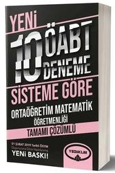 Yediiklim Yayınları - Yediiklim Yayınları ÖABT Ortaöğretim Matematik Öğretmenliği Tamamı Çözümlü 10 Deneme