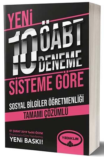 Yediiklim Yayınları ÖABT Sosyal Bilgiler Öğretmenliği Tamamı Çözümlü 10 Deneme