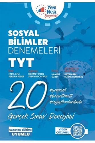 Yeni Nesil Yayınevi TYT Sosyal Bilimler 20 Deneme Sınavı
