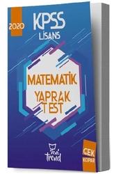 Yeni Trend Yayınları - Yeni Trend Yayınları 2020 KPSS Matematik Yaprak Test